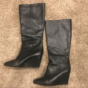 Loeffler Randall Black Leather Boots
